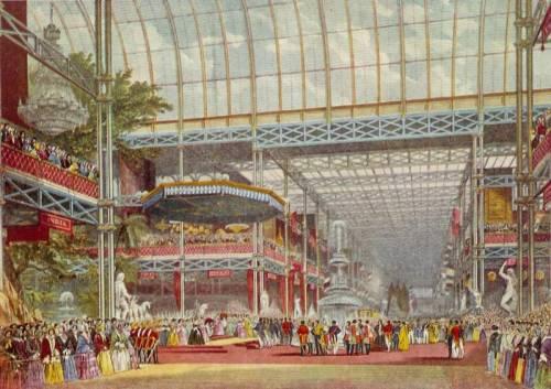 Clase media británica en el Palacio de Cristal a mediados del S.XIX
